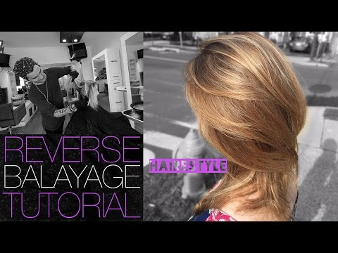 How To: REVERSE BALAYAGE TECHNIQUE To Add Depth To Overly BLONDE Hair - Tutorial