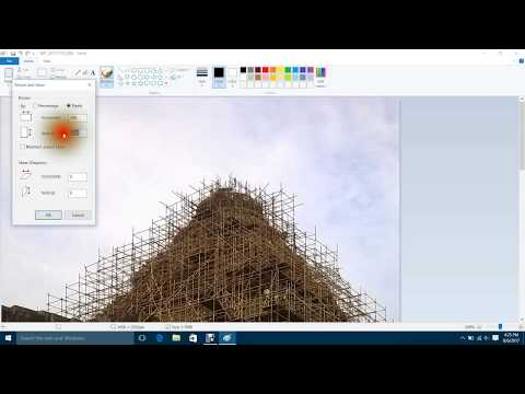 how to change size(resize) of photo or image  in paint
