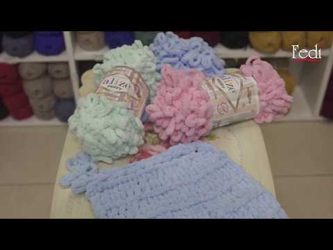 DIY: How to knit a blanket without needles using Alize wool by Fedi?