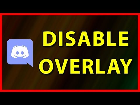 How to turn off Discord in game Overlay on Windows (2019)