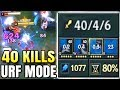 40+ KILL URF KENNEN! 1000+ AP EVERYTHING IS ELECTRIFIED TO 0 HEALTH | URF Mode