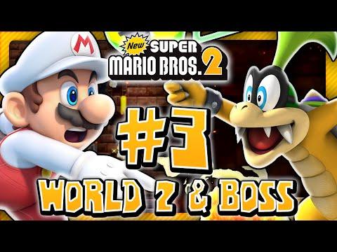 New Super Mario Bros 2 3DS - World 2 & Boss (2/2) (2 Player) 100