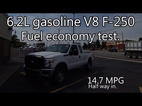 2015 6.2L F250 mpg test.