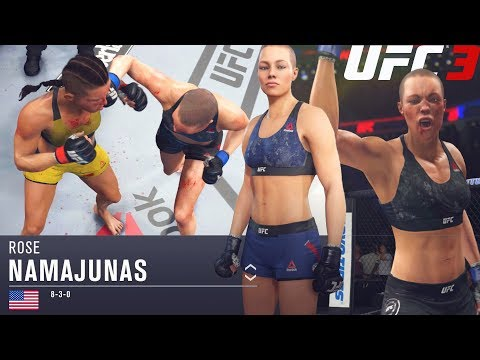 Rose Namajunas HAS HANDS! Say Goodnight! EA Sports UFC 3 Online Gameplay
