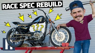 BIG Race Spec Engine, Bigger Shocks, And First Fire-Up on our 72hr Sportster Build