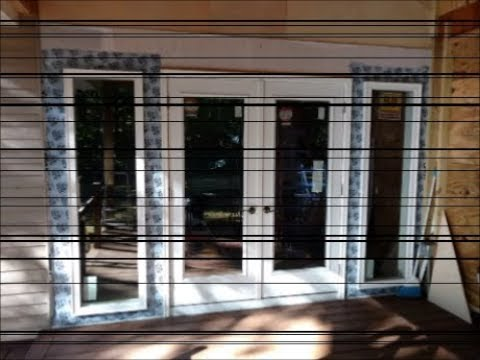install new exterior french door