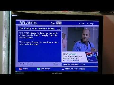 Xoro DTV-M5 Irish Digital TV Receiver - Aertel Digital Teletext