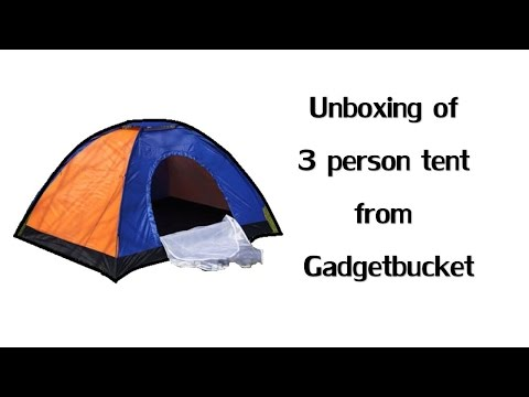 Unboxing and how to | Setting up a 3 Person Tent | Camping