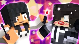 Zane With Lipstick!   Do Each Other's Make-Up In Minecraft!