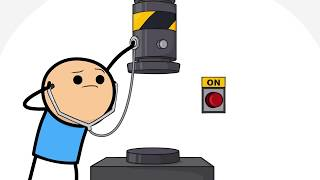 Cyanide & Happiness Gets Hydraulic Pressed