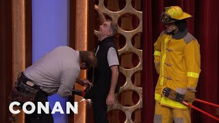 CONAN Stagehand Gets Penis Stuck In Wall  - CONAN on TBS