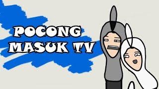 Kartun Lucu l POCONG MASUK TV