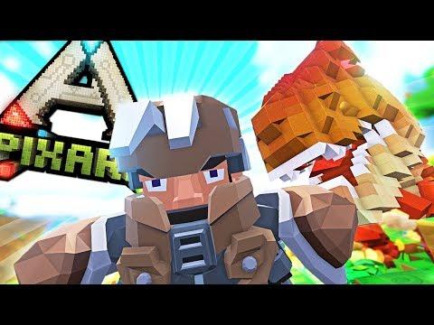 SURPRISE T-REX ATTACK + DRAGON HUNTING - PixARK #22
