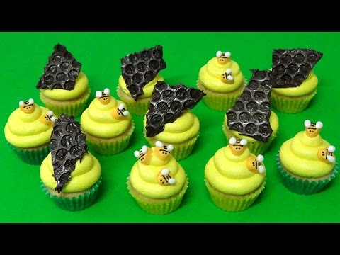 how to make honey bees cupcakes