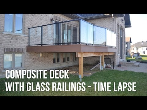 Composite Deck with Glass Railings - Timelapse