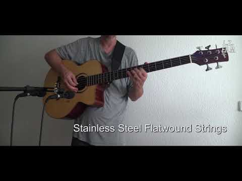 Roundwound vs. Flatwound Strings on a Five String Acoustic Bass