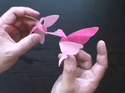 Making a Kirigami Hummingbird with Craft Papyrus Paper