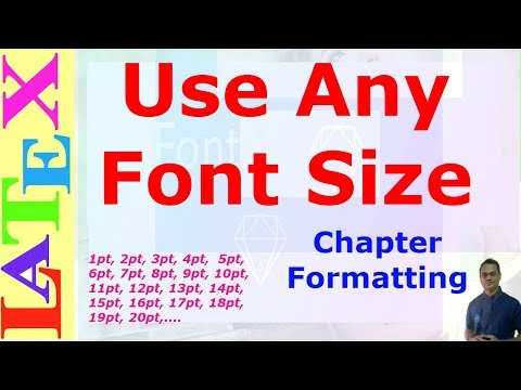 How to use Any Font Size in LaTeX (LaTeX: Tips/Solution-28)