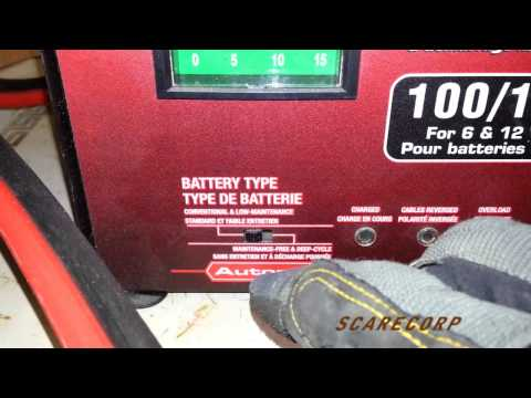 MotoMaster Battery Charger -Boosting Car