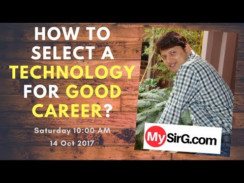 How to select a technology for good career? | LIVE  (in Hindi)