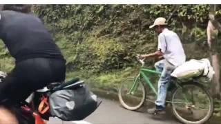 Este campesino antioqueño supero dos europeos profesionales en bicicleta 2017