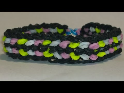 Rainbow Loom Double Capped Dragon Scale On LOOM-DIY