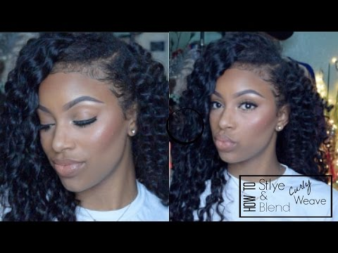 How To: Blending Natural Hair With Curly Weave (Brazilian Deep Wave Curly)