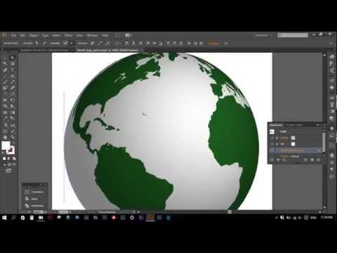 How to make globe in Illustrator CC 2015