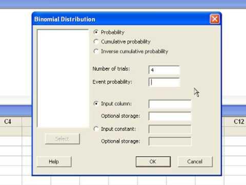 07 Computing Binomial Probabilities in Minitab