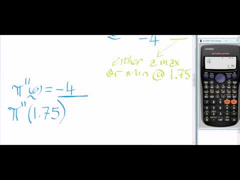 Calculator Tips Part 2 (Profit Function and Differentiation)