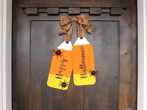 Happy Halloween Door Tag Wreath DIY