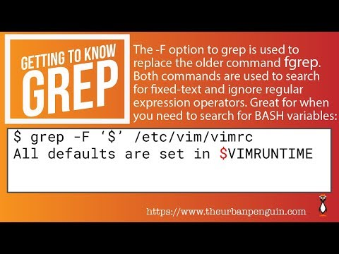 Using grep -F or fgrep to search for fixed strings