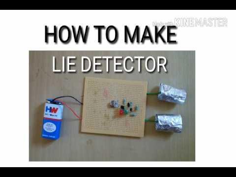 How to make lie detector