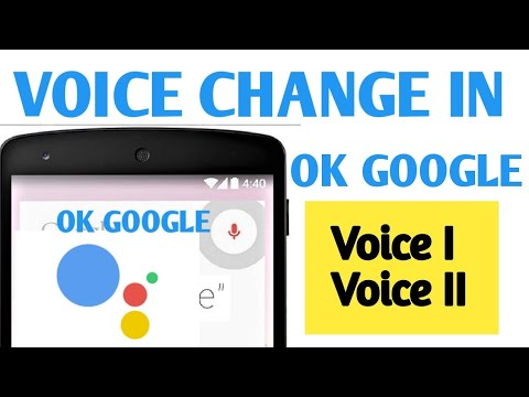 How to change ok google voice. How to get audio info in another way in ok google