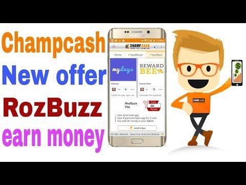 champcash new offer rozbuzz earn money