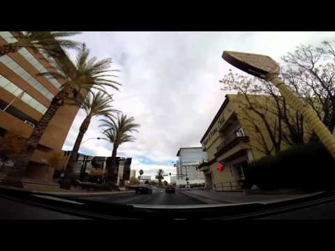 Driving in Las Vegas: Stratosphere to Downtown Fremont Street East