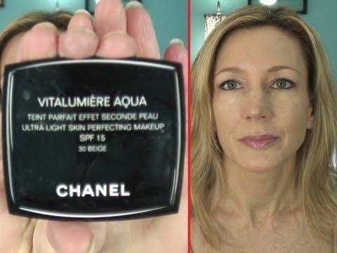 Chanel Vitalumiere Aqua Review & Application on Mature Skin