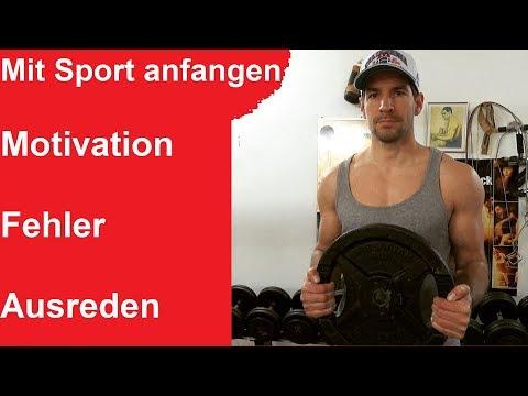Zum Sport motivieren und welche Fehler Du nicht machen darfst ! Motivationstief Sport