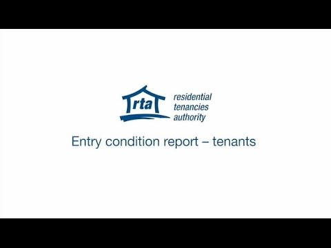 Entry condition report – tenants