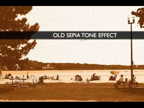 Creating Old Sepia Toned Photo in Photoshop CS6 (Sepia Effect)