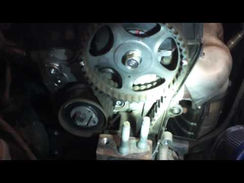 Timing belt water pump replacement 2007 - 2010 Hyundai Elantra 2.0L Install Remove Replace