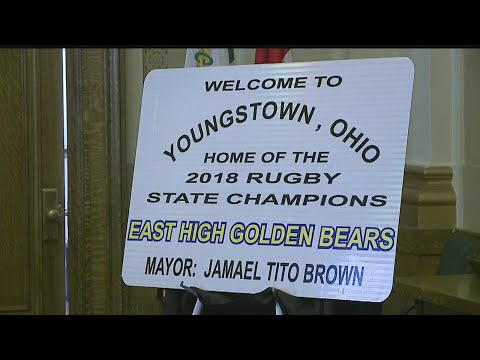East High's rugby team recognized by mayor for state championship win