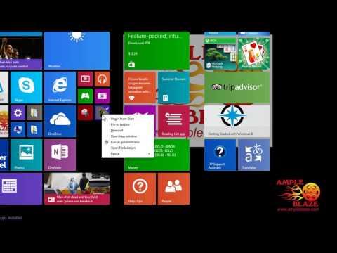 Ample Blaze How to Create a Windows 8 Tile Menu Shortcut to Desktop Shortcut