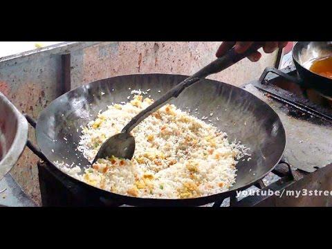 EGG FRIED RICE - FAST FOOD RECIPE - 4K VIDEO - ULTRA HD VIDEO street food