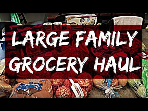 Feeding a Family of 6 on $250 a month | April 2018 Grocery Haul
