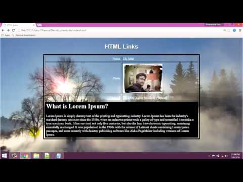 HTML5 Tutorials in Hindi #08 How to Give Hyperlink I a href Tag in HTML