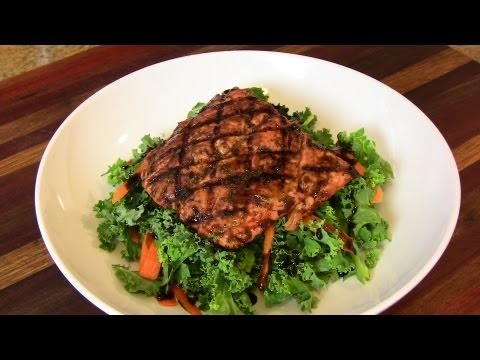 Balsamic Glazed Grilled Salmon- A Quick & Easy Lunch |Cooking With Carolyn|