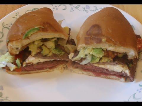 Mexican Torta Steak Sandwich Recipe