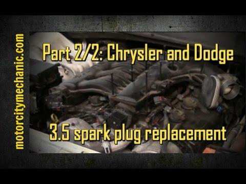 Part 2/2: 2007 Chrysler and Dodge 3.5 liter engine spark plugs
