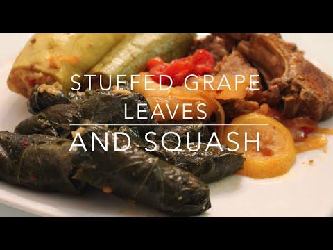 Dawali and Kusa Mahshy Recipe (Stuffed Grape Leaves & Squash)